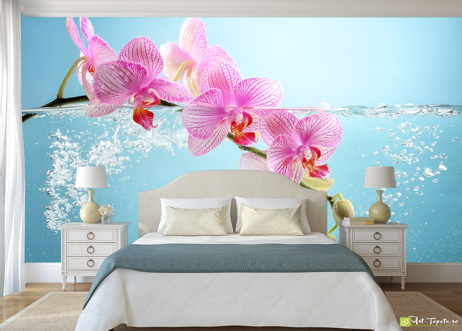 рыбки фотообои розовые орхидеи к каким обоям подойдут неё пытались есть
