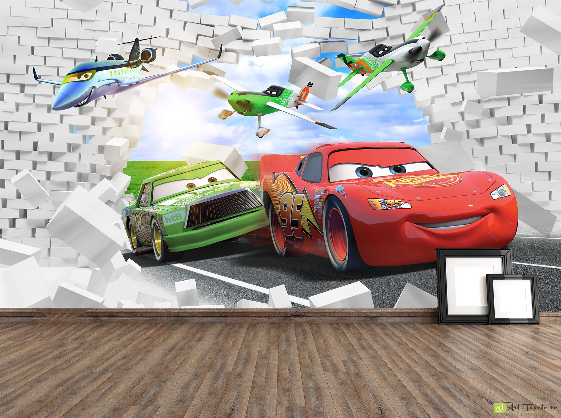 Childrens Wallpaper Wall Murals Disney Cars Fototapetart