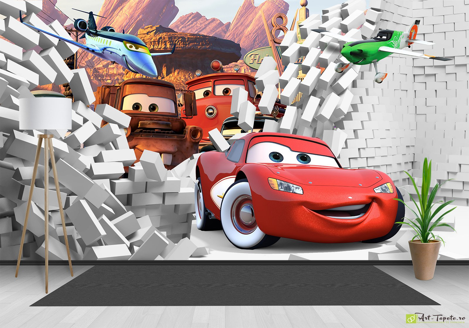 Childrens Wallpaper Wall Murals Disney Cars Mcqueen