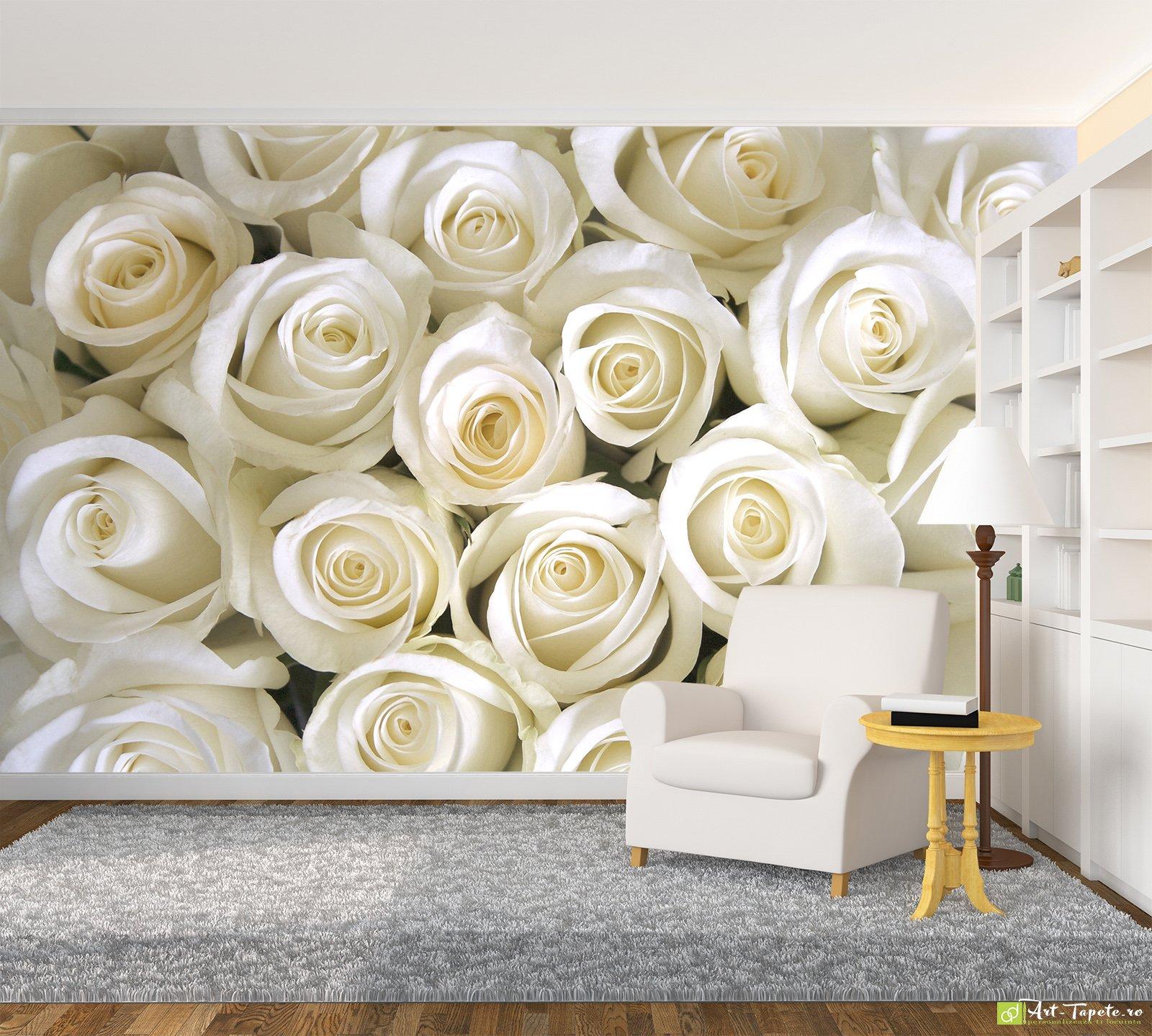 Photo wallpaper flowers white roses fototapett eco friendly photo wallpaper flowers white roses mightylinksfo