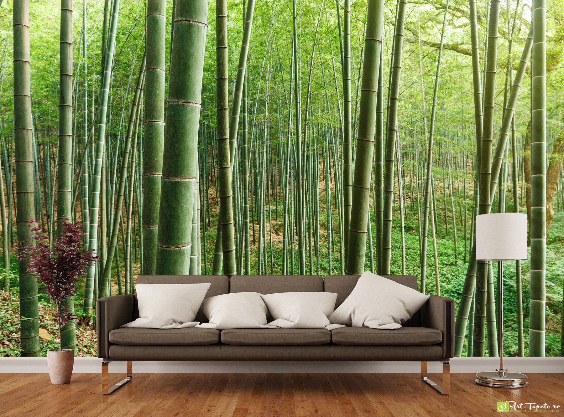 Nature wallpaper wall murals bamboo forest 8 for Bamboo forest mural wallpaper