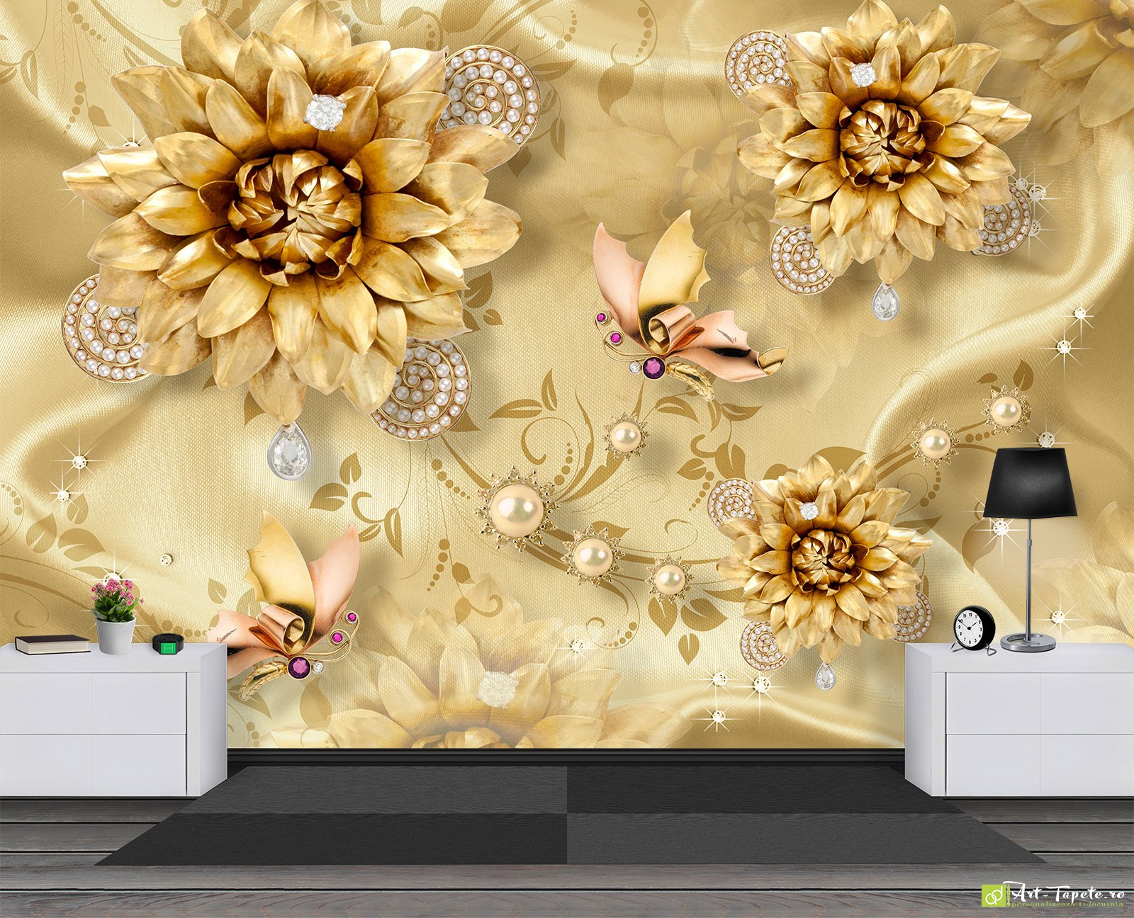 Photo Wallpaper 3D Effect - Decorations on silk_7 | Fototapet.art 3D ...
