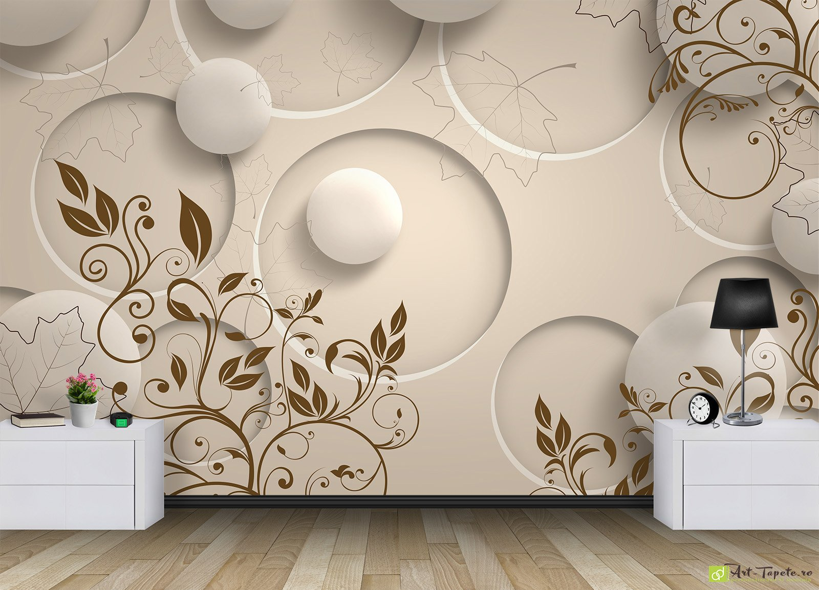 photo wallpaper 3d effect - circles_3 | fototapet.art amazing 3d