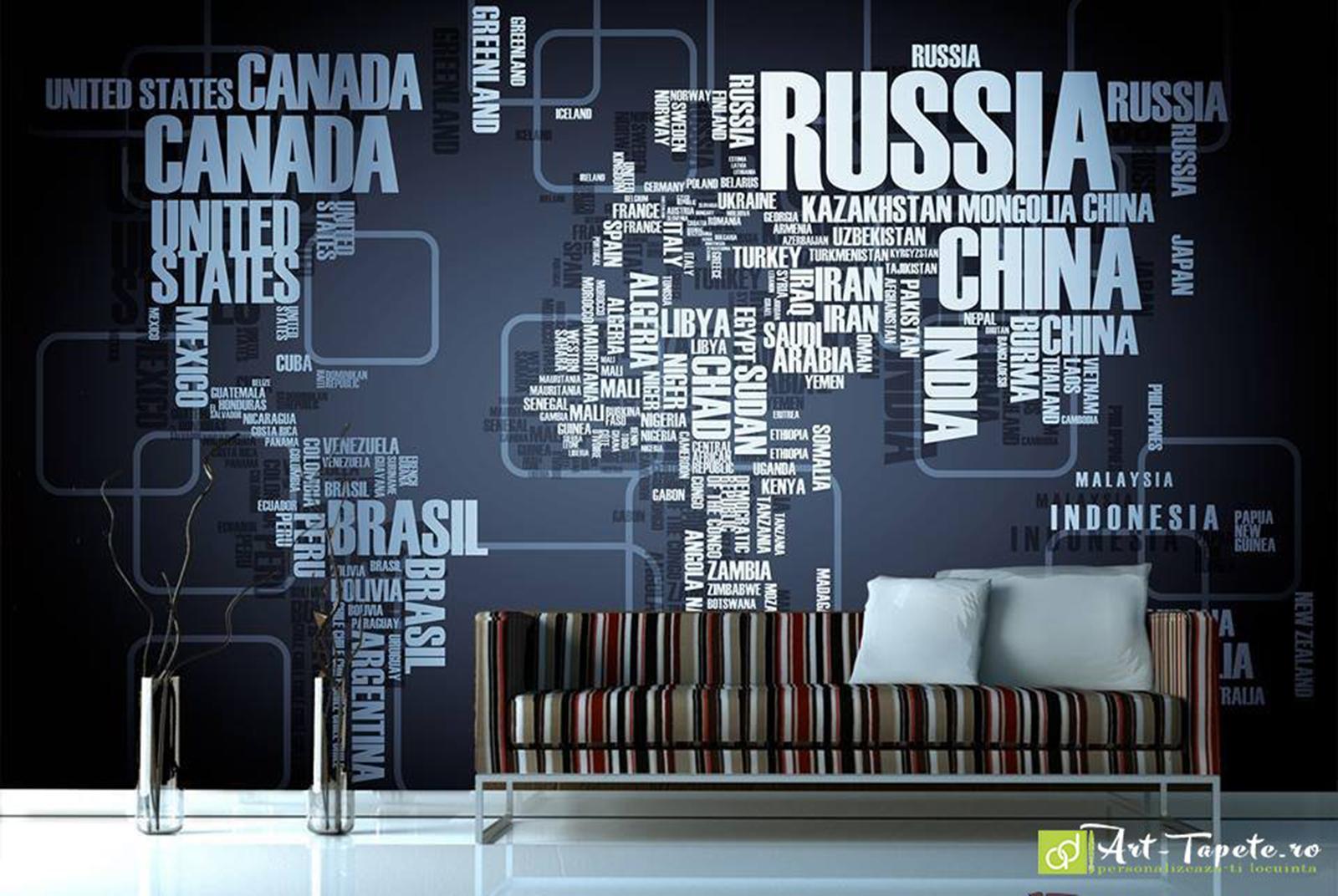 Wall murals digital wallpaper graphics world map fototapet wall murals digital wallpaper graphics world map gumiabroncs Images