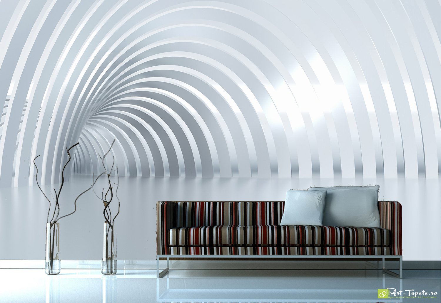 Wall murals digital wallpaper graphics tunnel for Digital wallpaper mural