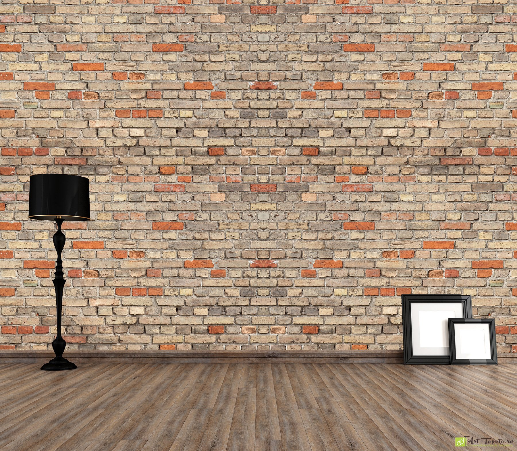 Wall murals digital wallpaper imitation of brick for Digital wallpaper mural