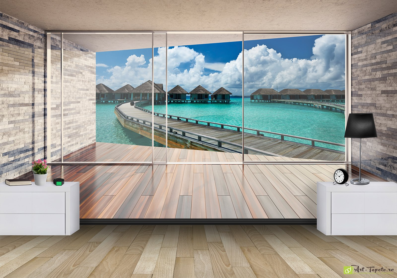 Wall Murals Digital Wallpaper City view from the window2