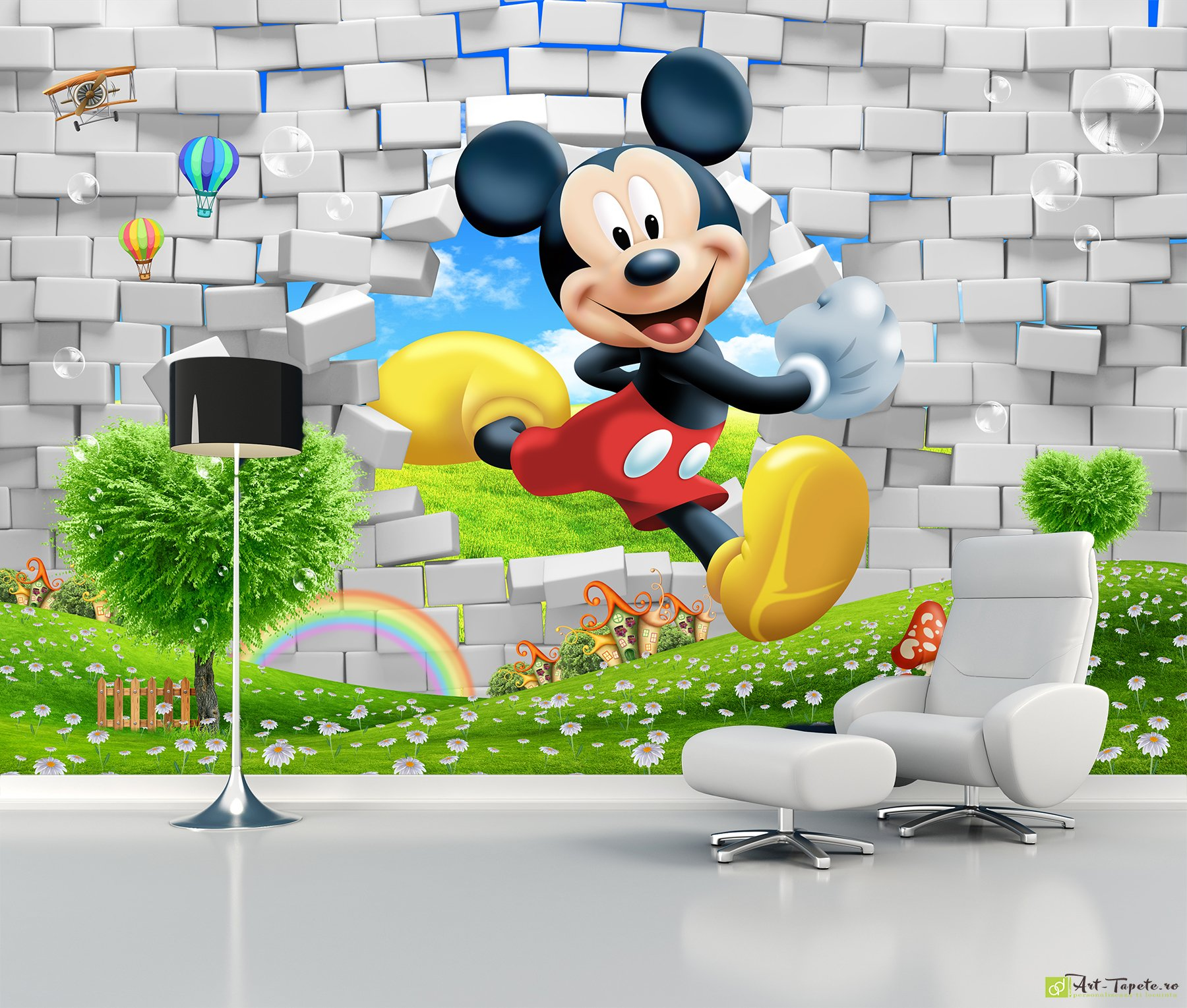 Childrens Wallpaper Wall Murals Mickey Mouse Fototapetart