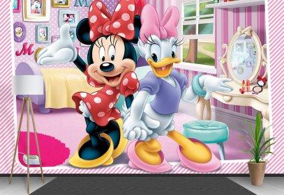 Children's Wallpaper & Wall Murals - Mickey si Minnie