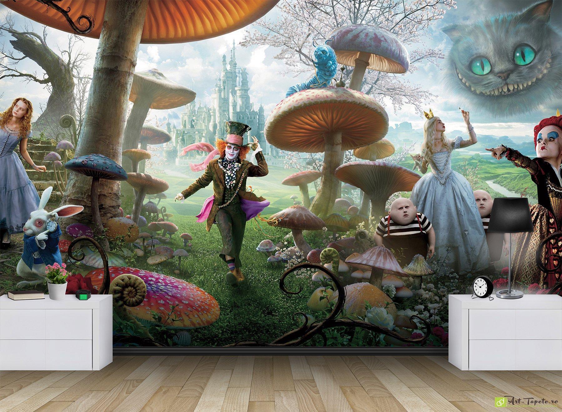 Childrens Wallpaper Wall Murals Alice in Wonderland Fototapet