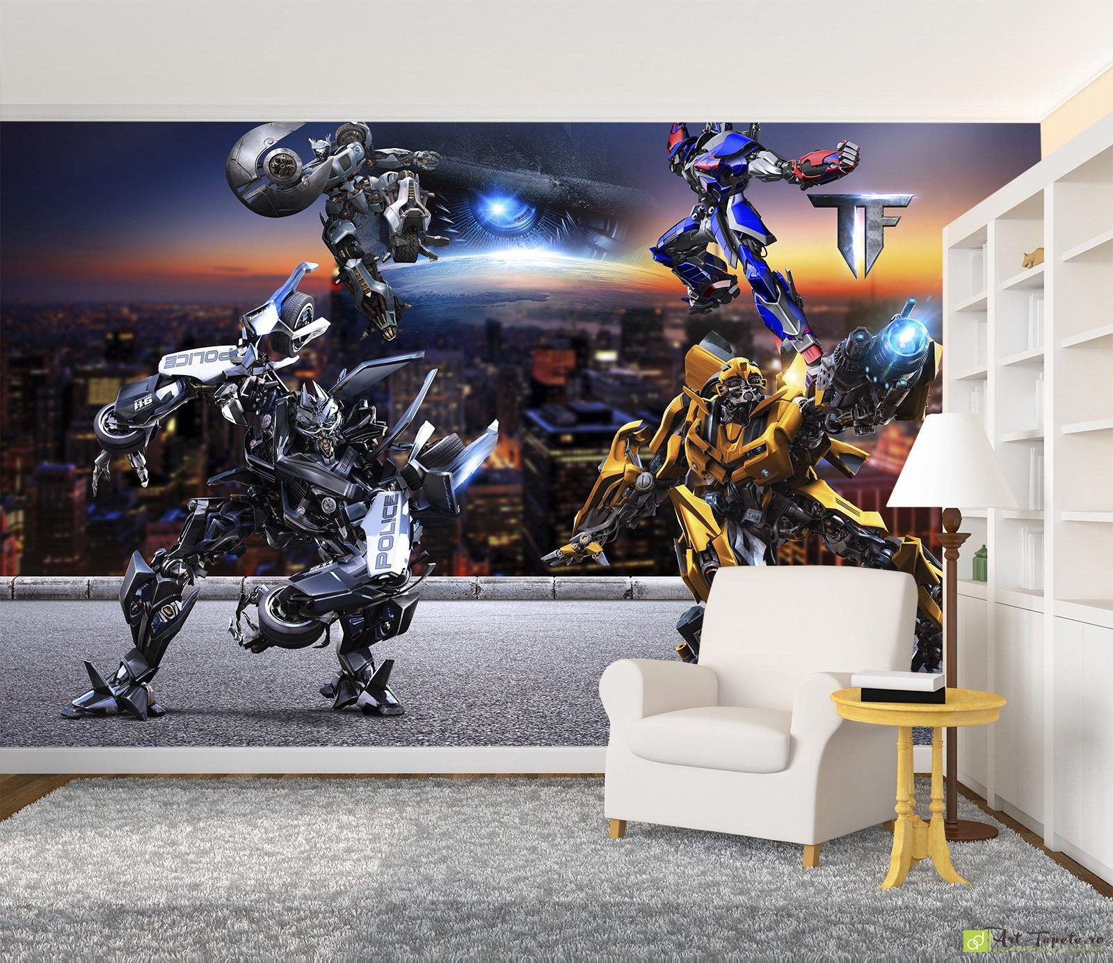 Tapet pentru copii transformers desene animate foto tapet la comand cluj napoca fototapet - Transformers tapete ...