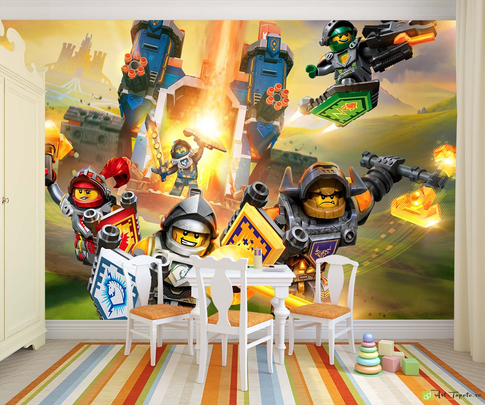 Childrens Wallpaper Wall Murals Lego Nexo Knights Fototapet