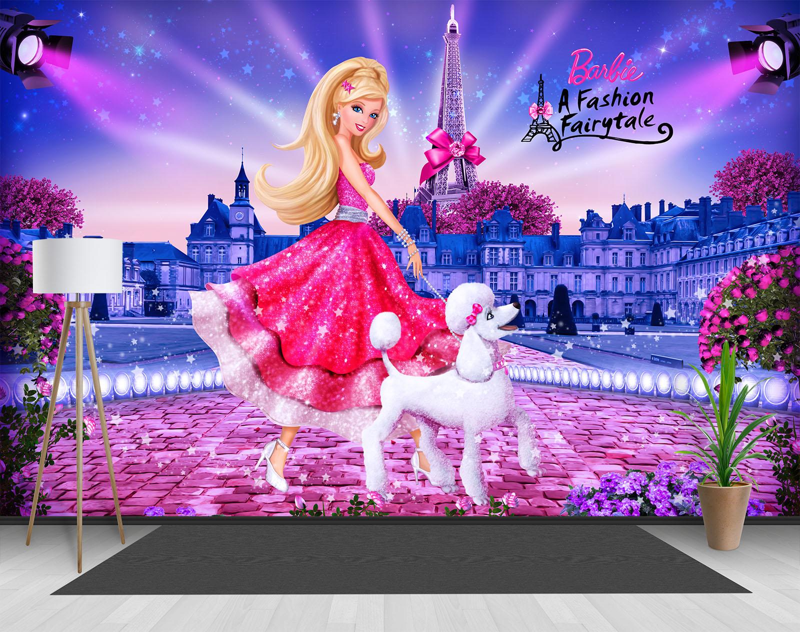 Wallpaper Mural Barbie Walltastic