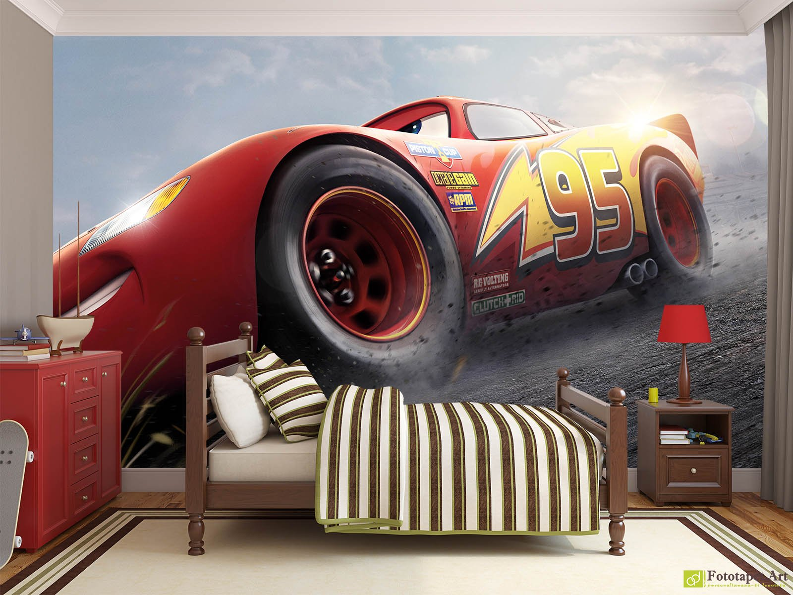 Childrens Wallpaper Wall Murals The Cars 3 Disney2