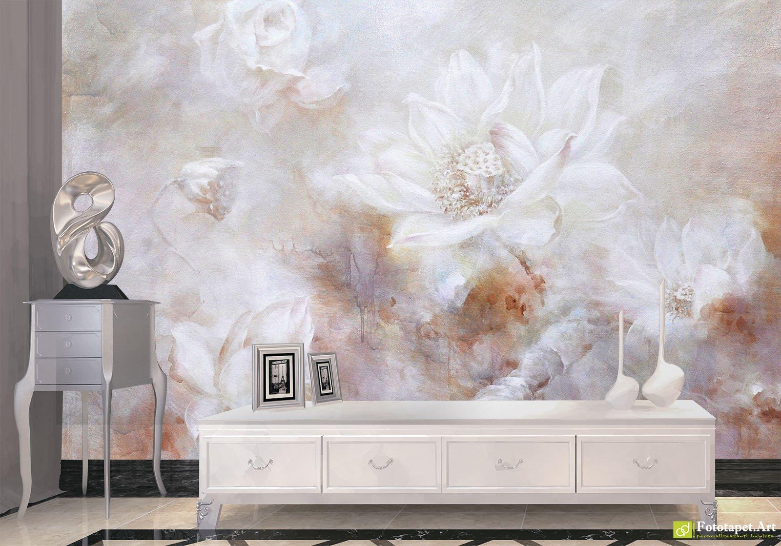 Retro Wallpaper Vintage Wall Murals Vintage Flower Background