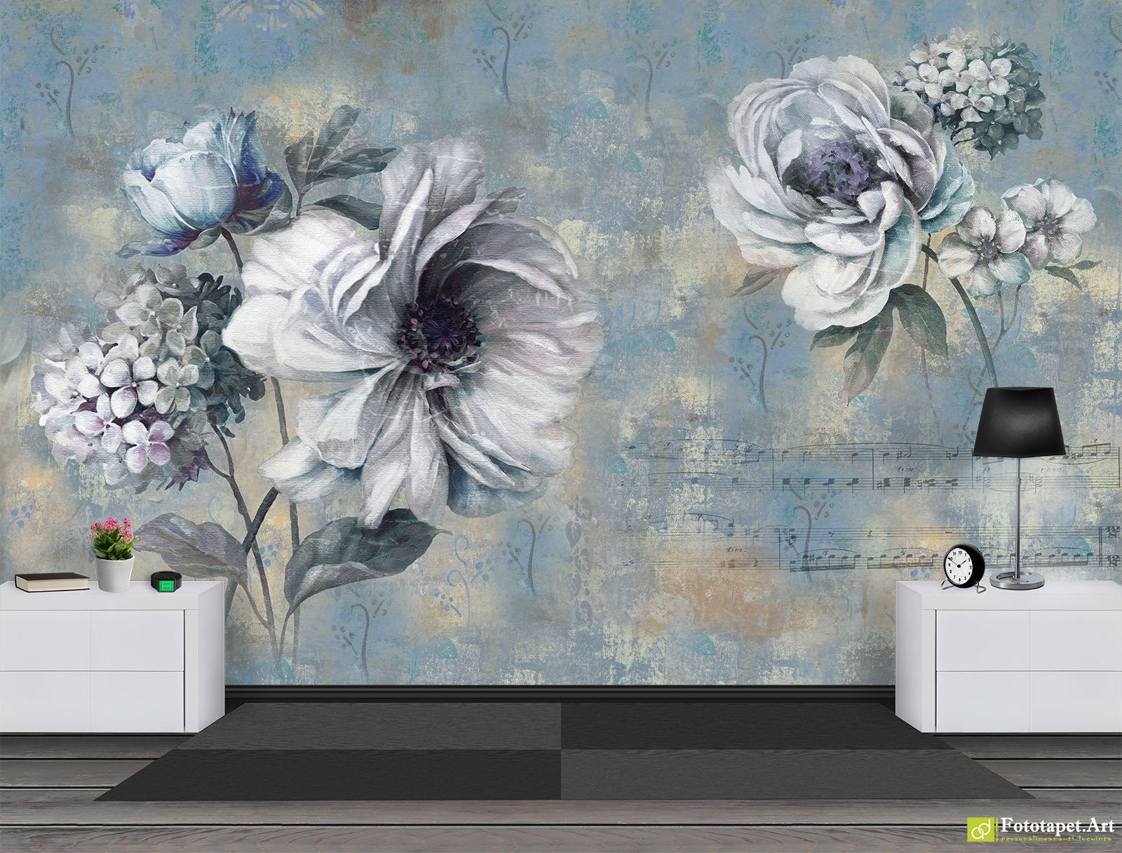 Retro wallpaper vintage wall murals flowers and notes in retro wallpaper vintage wall murals flowers and notes in vintage style fototapett retro wallpaper the best selection of wall murals and photo amipublicfo Gallery