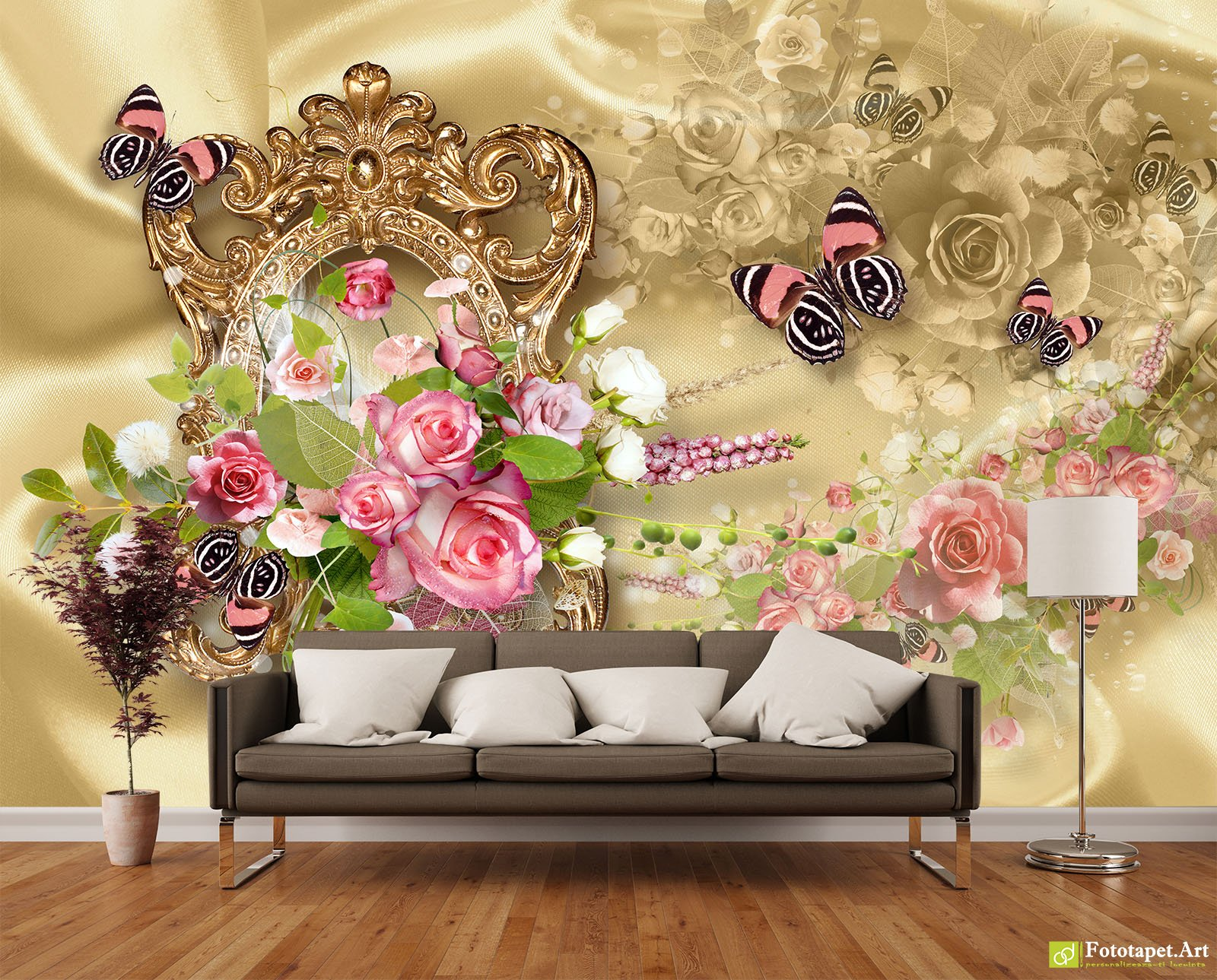 Retro Wallpaper & Vintage Wall Murals - A bouquet of roses and ...
