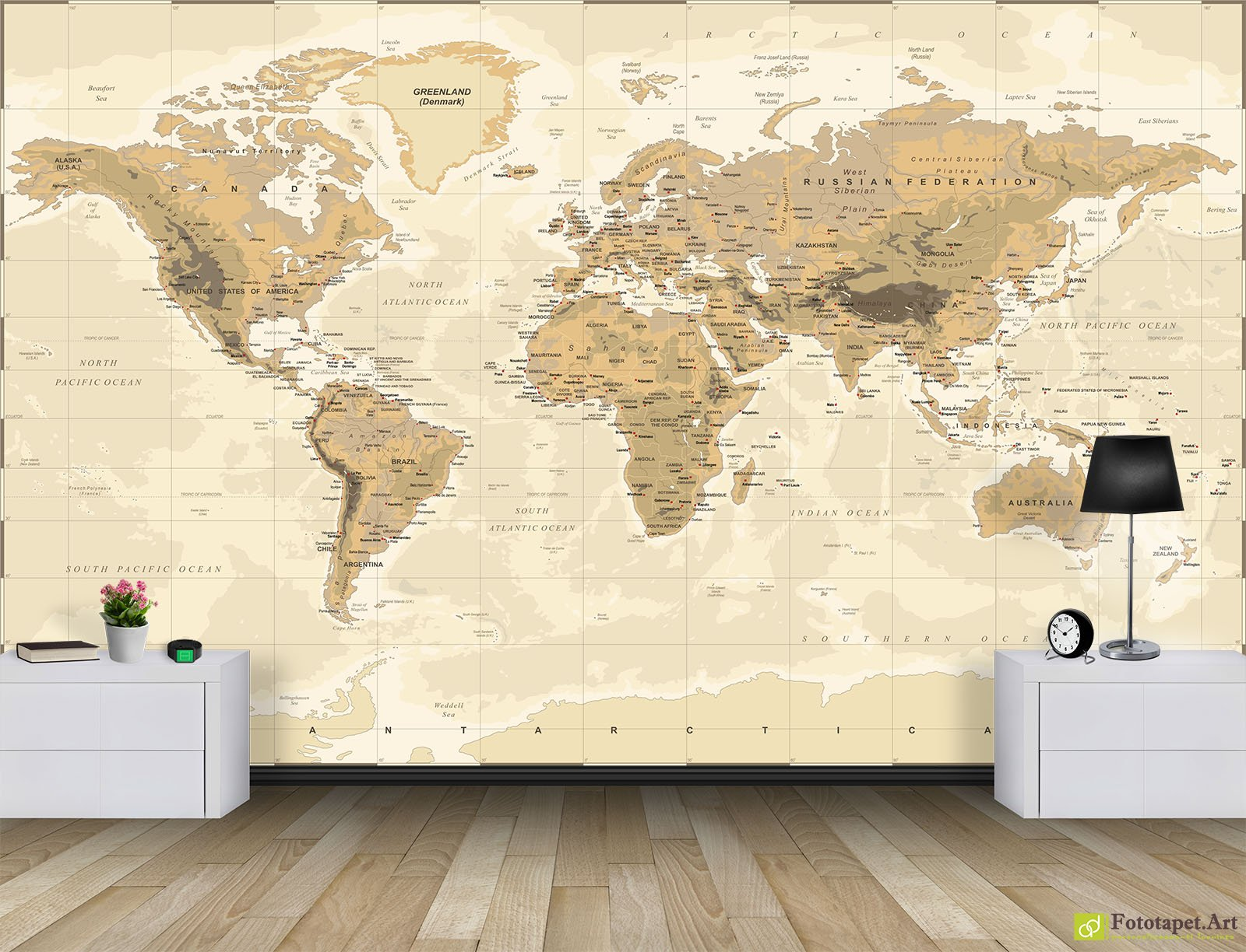 Retro wallpaper vintage wall murals world map5 fototapet retro wallpaper vintage wall murals world map5 amipublicfo Images