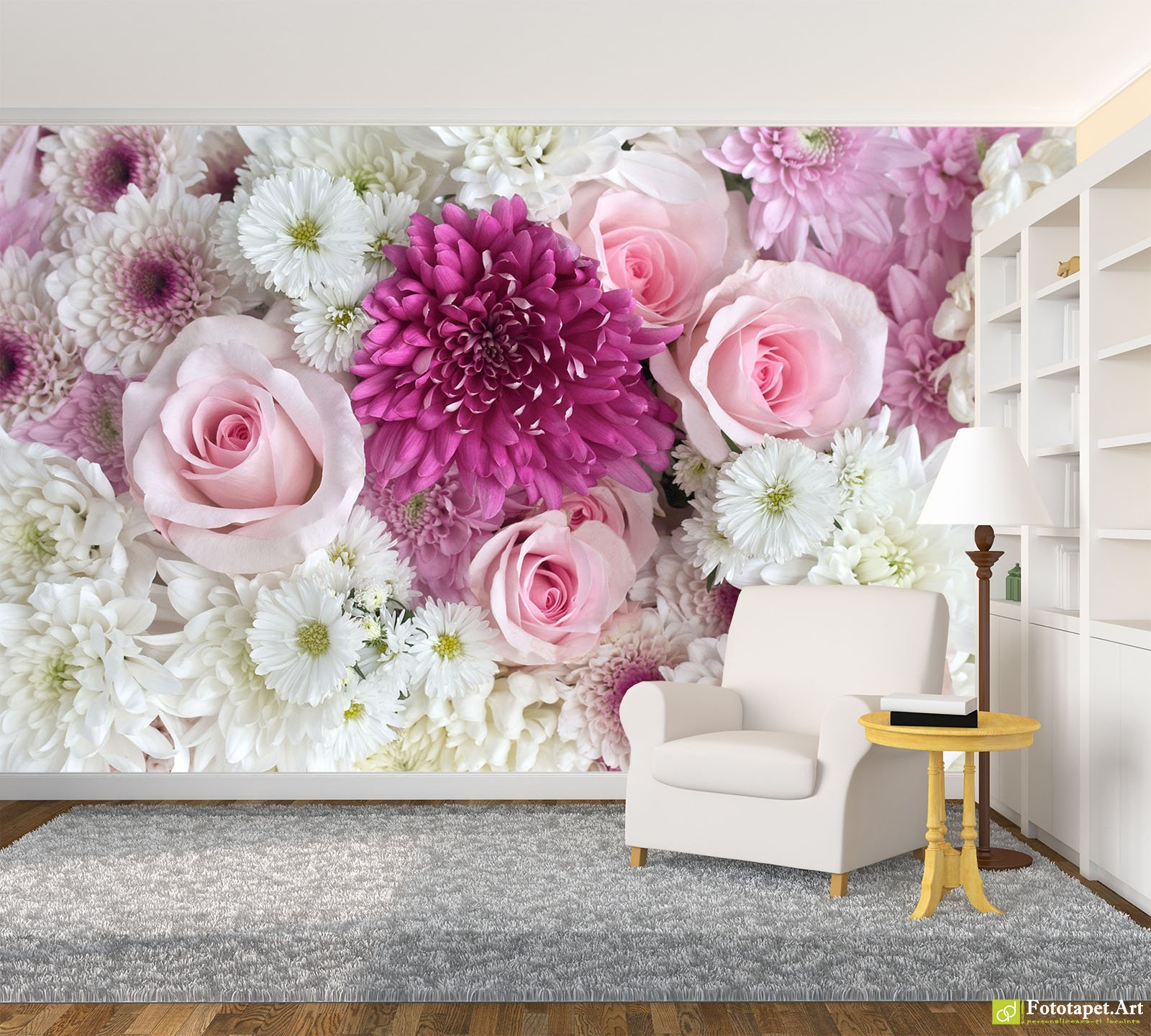 photo wallpaper, flowers - flower arrangement_2 | fototapet.art
