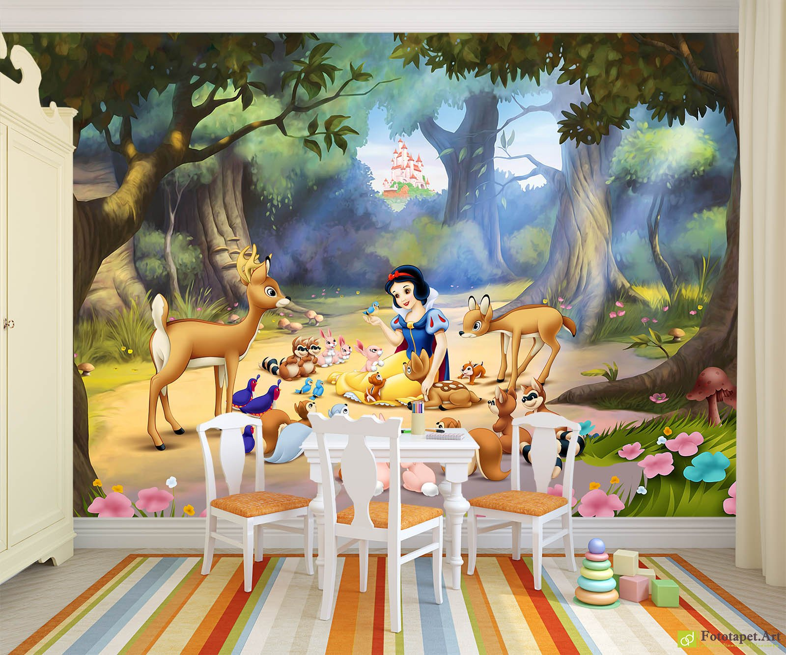 Childrenu0027s Wallpaper U0026 Wall Murals   White As Snow In The Forest Part 54