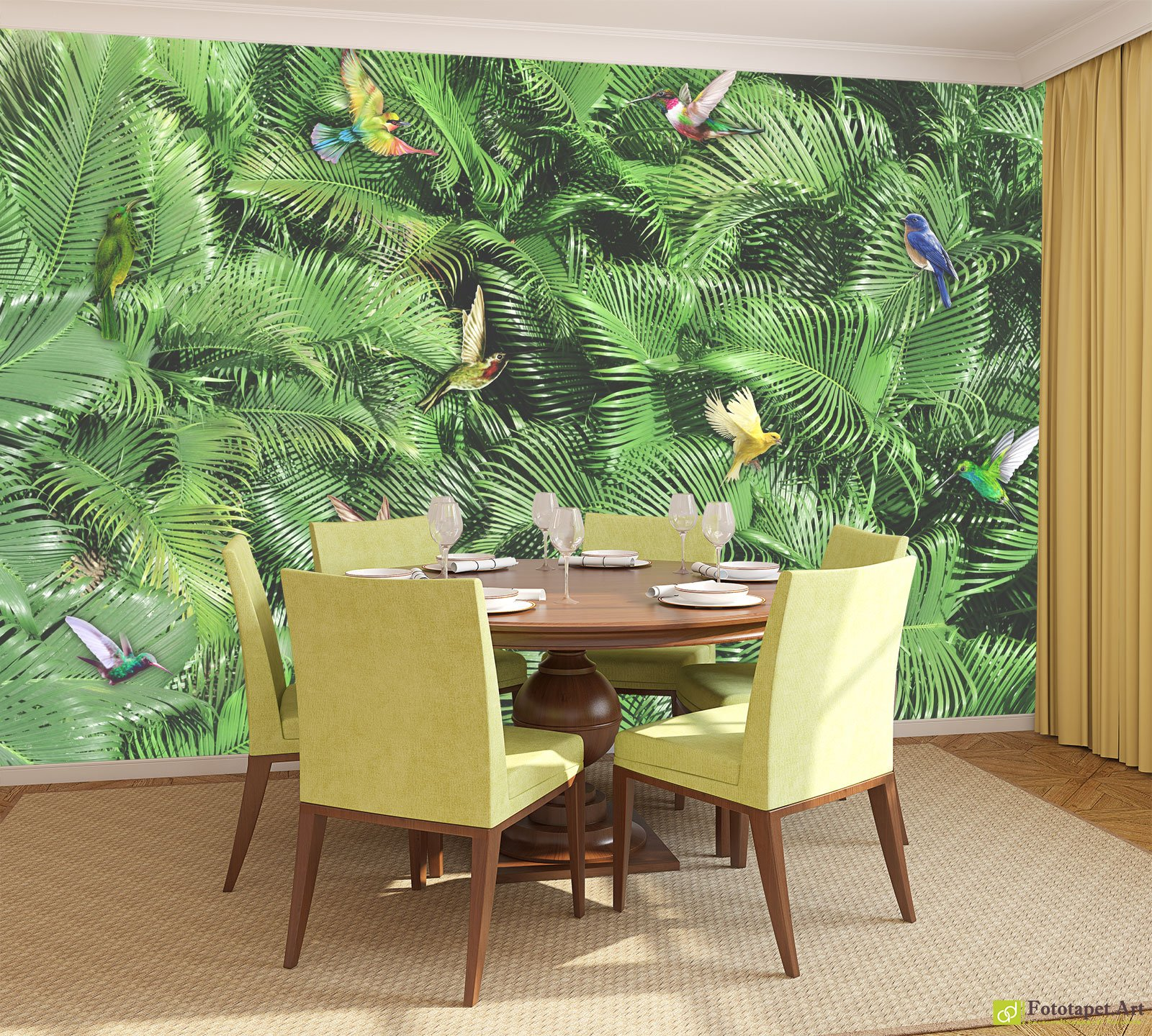 Nature wallpaper wall murals birds and branches fototapett nature wallpaper wall murals birds and branches amipublicfo Choice Image