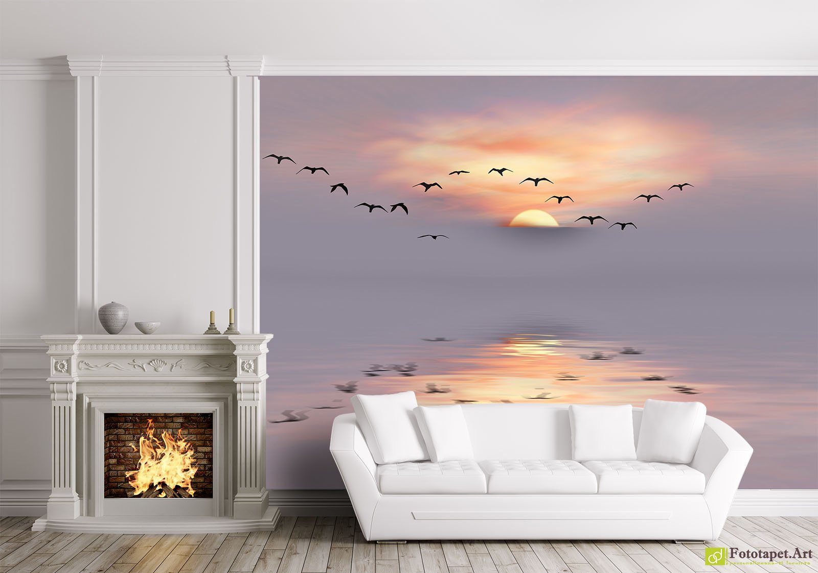 Nature Wallpaper Wall Murals Sea Sunset Fototapetart