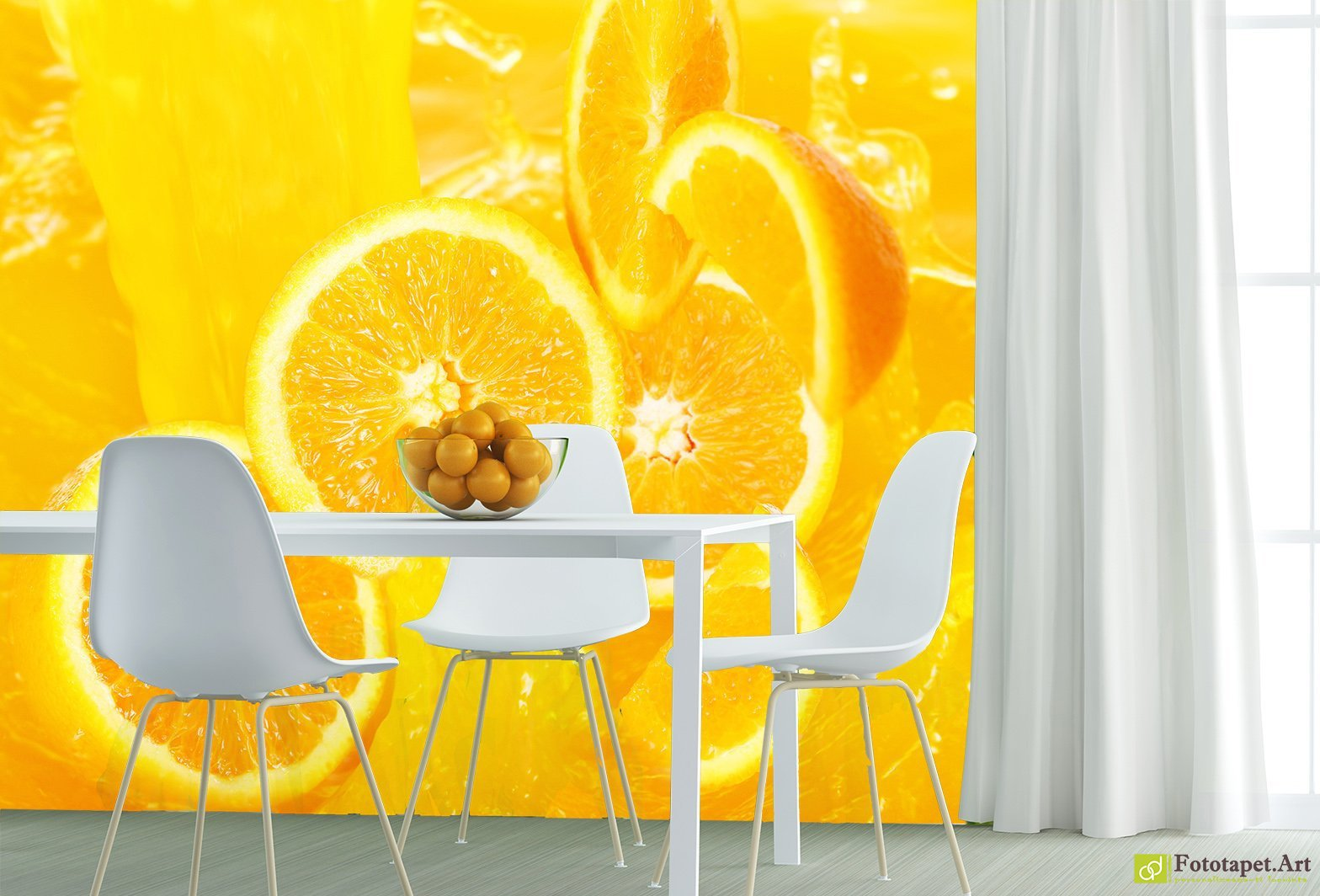Kitchen Wallpaper Wall Murals - Oranges| Fototapet.art Make the most ...