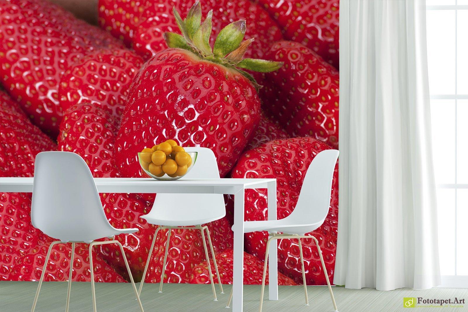 обои с ягодами для стен избавиться