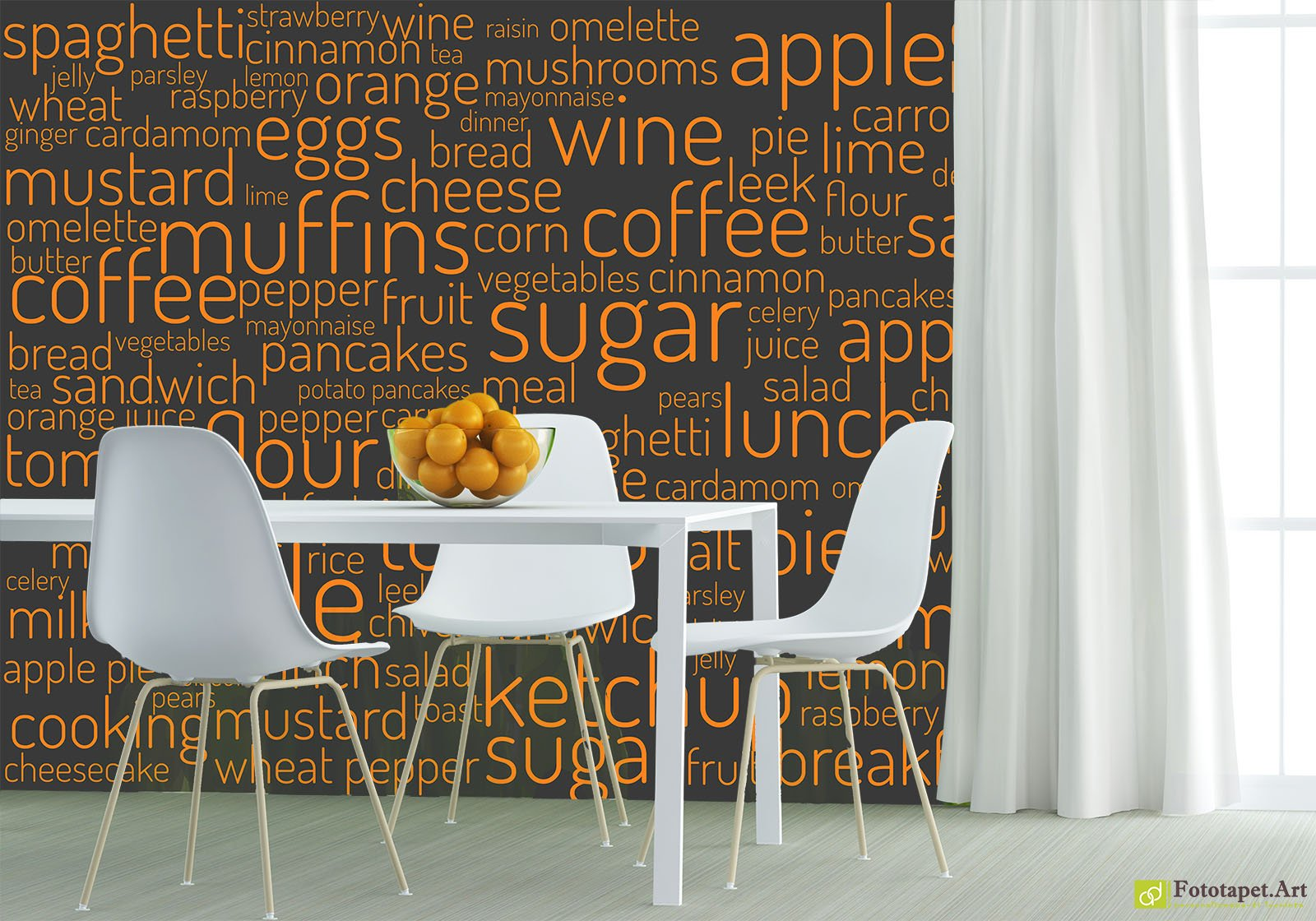 Kitchen Wallpaper Wall Murals   Inscriptions On The Wall | Fototapet.art  Make The Most Of Your Walls And Personalize Your Kitchen With The Pattern  And ...