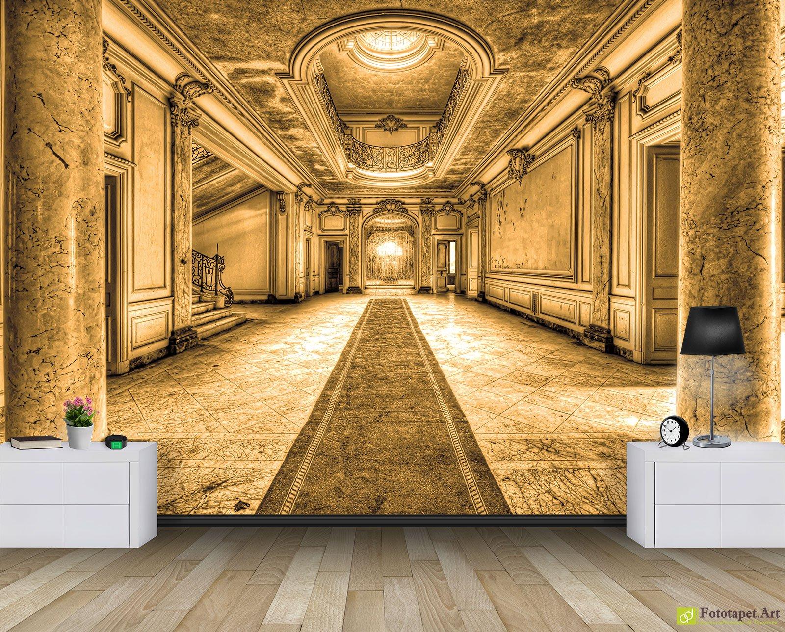 Wall Murals & Digital Wallpaper - Corridor of an abandoned palace_2 ...