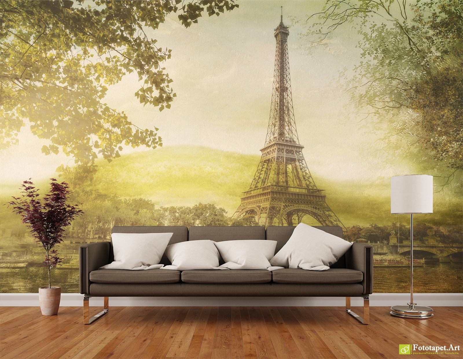 Retro Wallpaper & Vintage Wall Murals Online - Paris in vintage ...