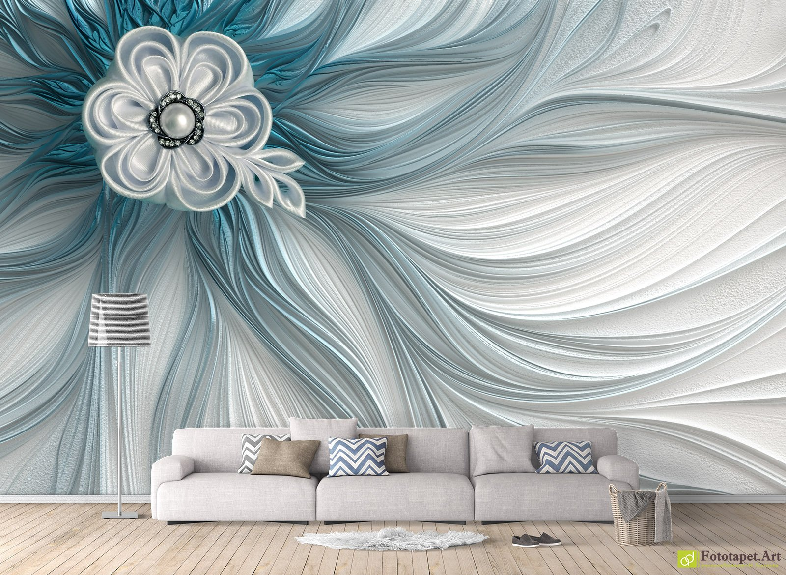 Photo Wallpaper With 3d Effect Flower With 3d Effect Fototapet Art Make The Most Of Your Walls And Personalize Room