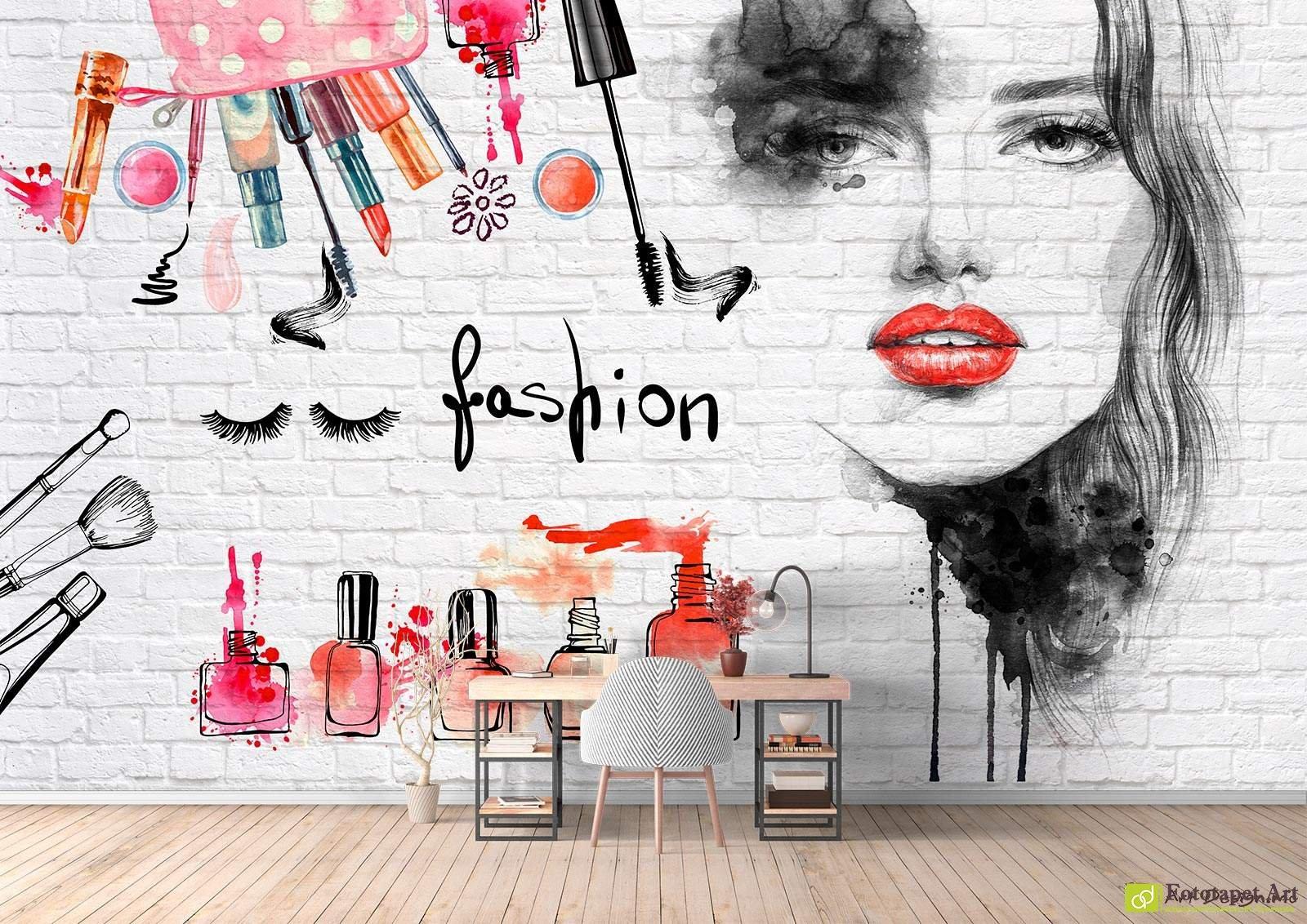 Wall Murals Digital Wallpaper Beauty Salon Fototapet