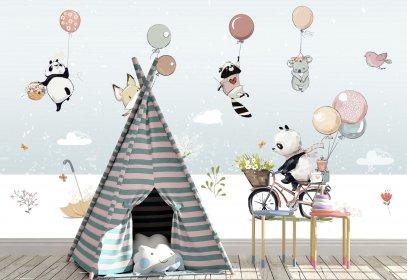 Children\'s Wallpaper, Wall Murals | Fototapet.art - Disney wall ...